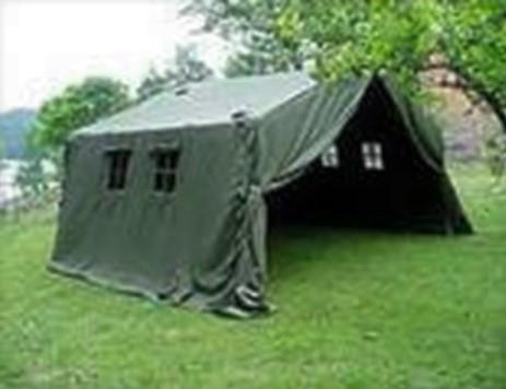Forsvarets Hustelt 22 kvm, teltduksett Depotsjefen`s
